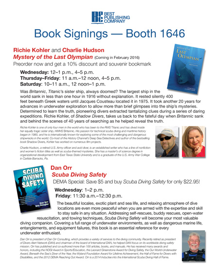 Book signings DEMA 2015 w