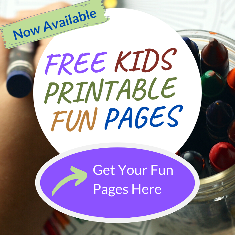 Kids Printable Fun Pages Website Graphic