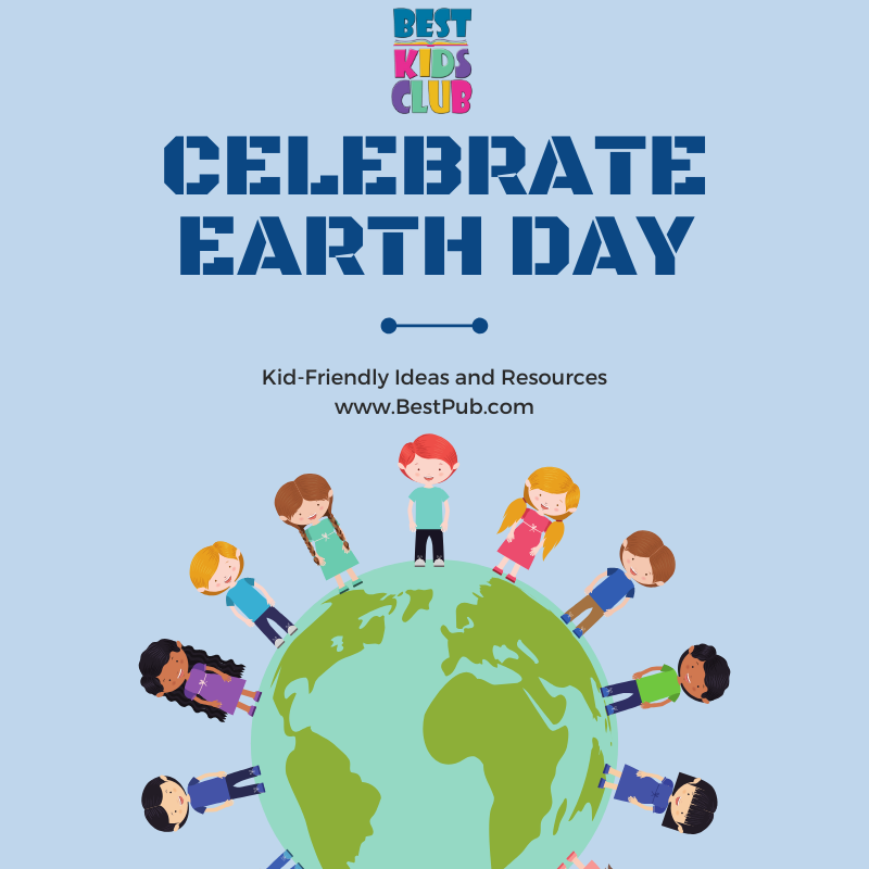 Earth Day Kids Website Graphics