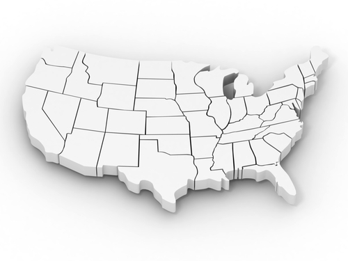 Map Of Wound Care Hyperbaric Centers - Us map black and white