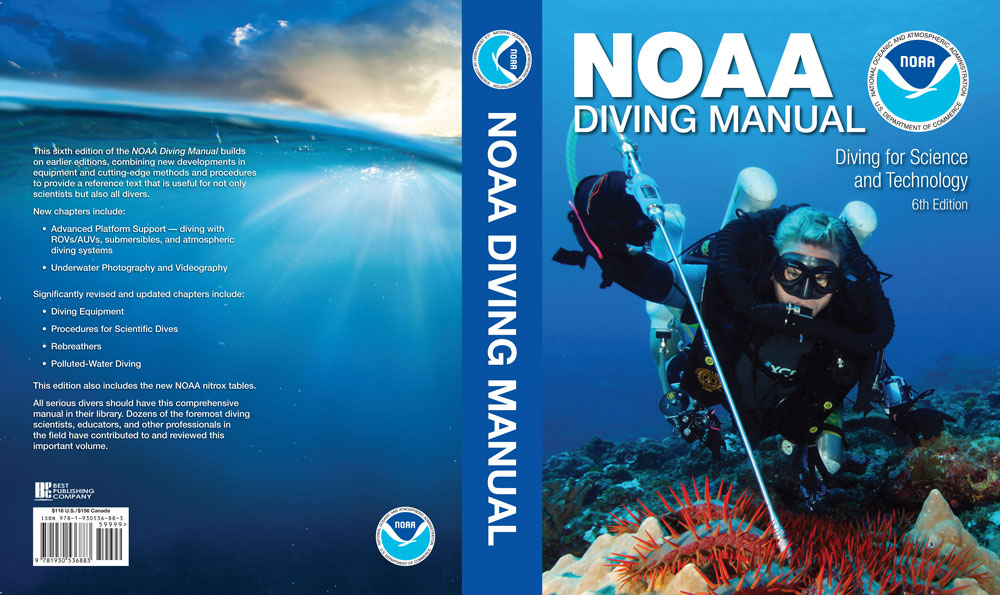 Cover spread NOAA Diving Manual w