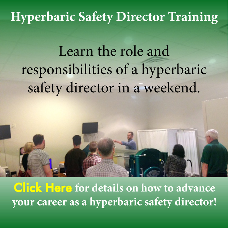 Hyperbaric Safety Director Course email sign up 750 w