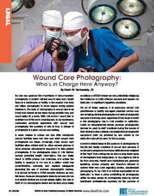 Wound Care Photography, Legal Considerations