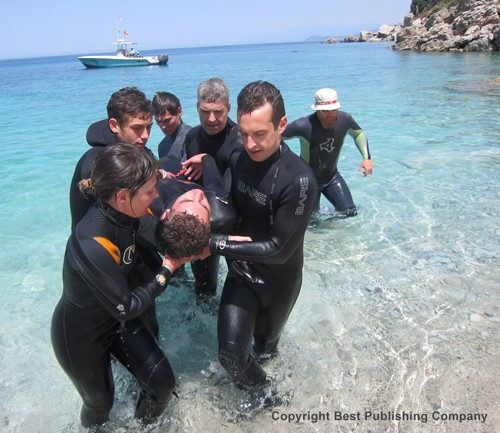 The Rescue of a Convulsing Diver