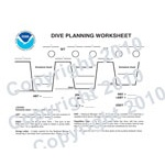 NOAA Dive Table/Dive Planning Card (Dive Slate)