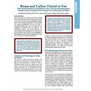 Bursa and Callus: Frirend or Foe